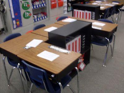 square desk arrangement with #Desk Layout