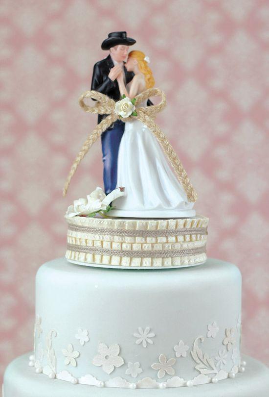 Lasso of Love Western Wedding Cake Topper