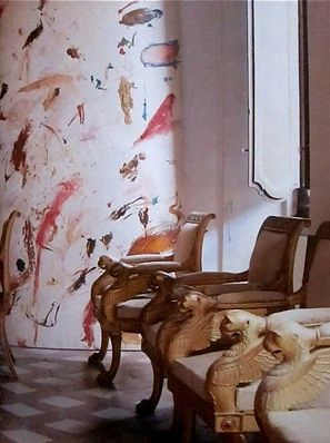 Cy Twombly's apartments in Rome. Photographed by Horst for Vogue, 1966 xo