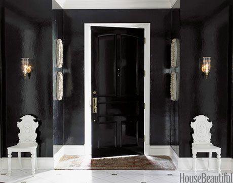 Go Black in One Room #home interior design 2012 #interior decorating #modern house design #modern home design #living room design