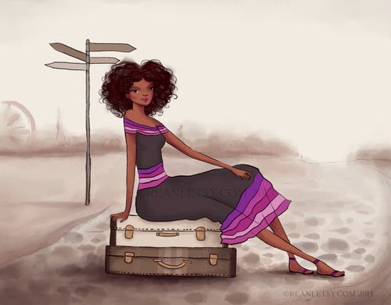 Fashion Illustration with Custom Blog Banner Design by by Reani, $350.00