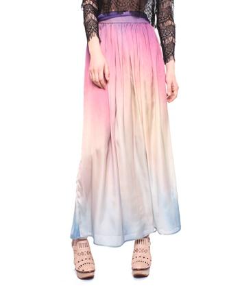 Watercolor maxi skirt.