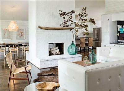 Brush Prairie House. Living room by designer Jessica Helgerson
