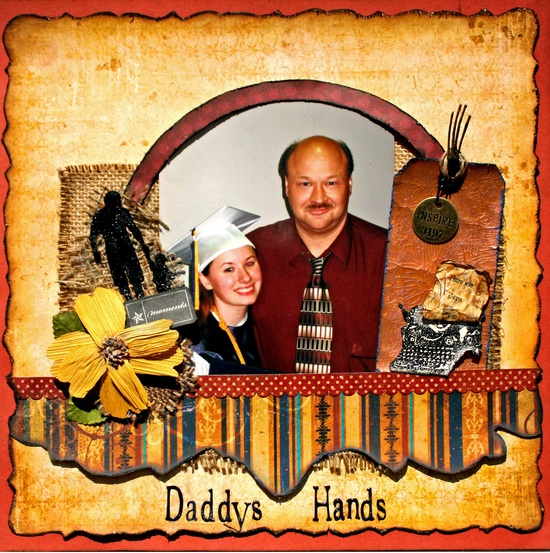 Daddys Hands made with Swirlydoos Antiquities Kit - Scrapbook.com