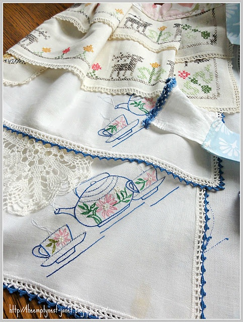 my love of vintage linens