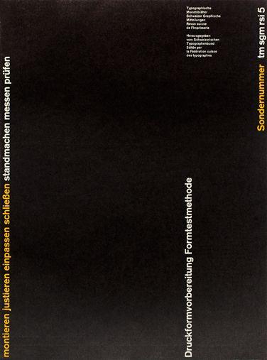 Robert Büchler: Typographische Monatsblätter – cover from 1960, issue 5