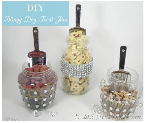 DIY Bling Dog Treat Jars from IrresistiblePets.net