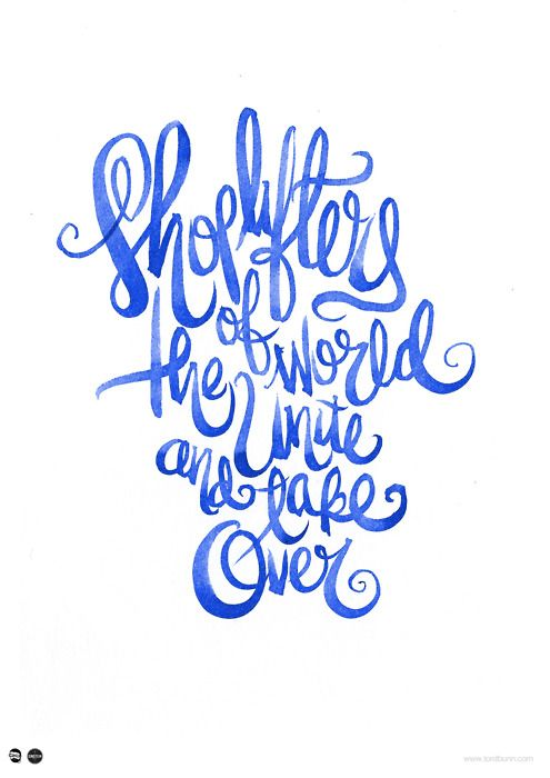 Hand lettering in watercolor