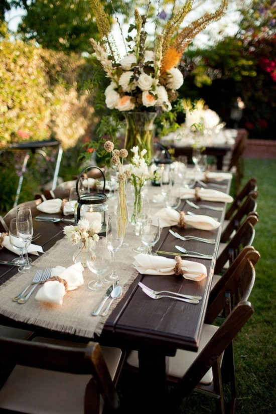 Beautiful outdoor table setting