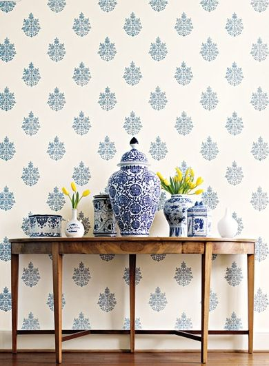 Schumacher Asara Flower wallpaper