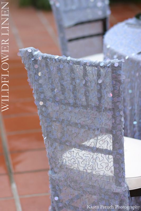 sparkley chair covers
