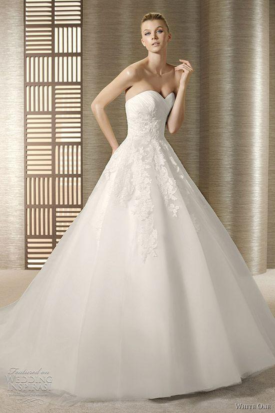 White One Wedding Dresses 2012