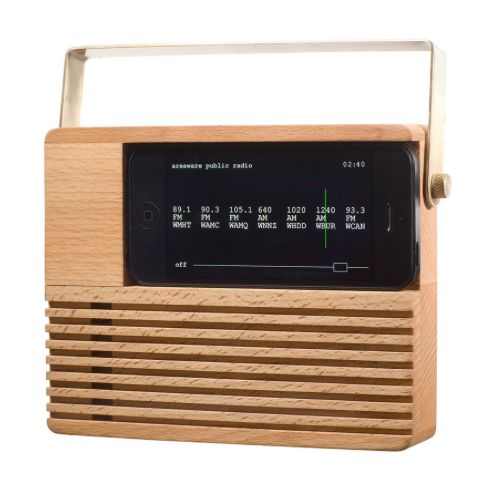 Look closely: It's a retro radio iPhone dock!
