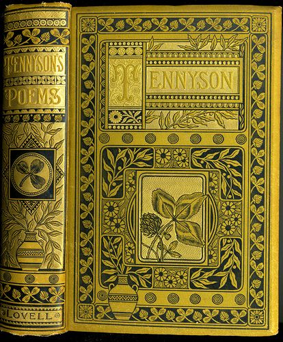 Beautiful cover. The Poetical Works of Alfred Tennyson c.1884.