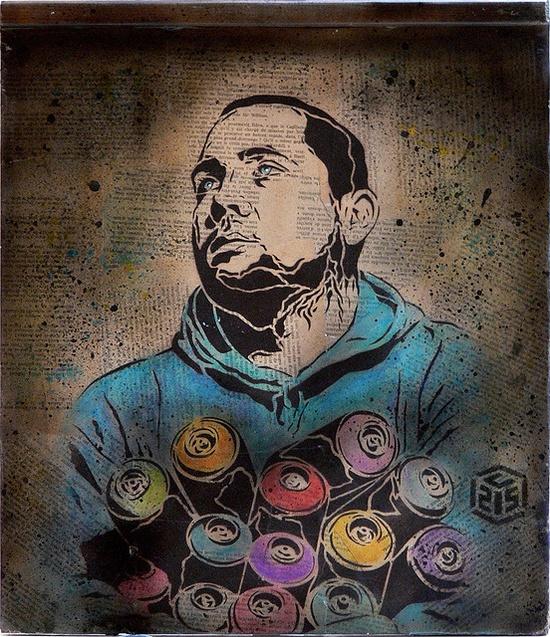 C215 - Portrait of a graffiti writer by C215, via Flickr