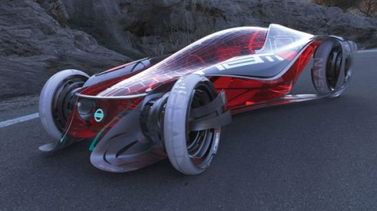AMAZING TRANSLUCENT FUTURE SPORTS CAR!