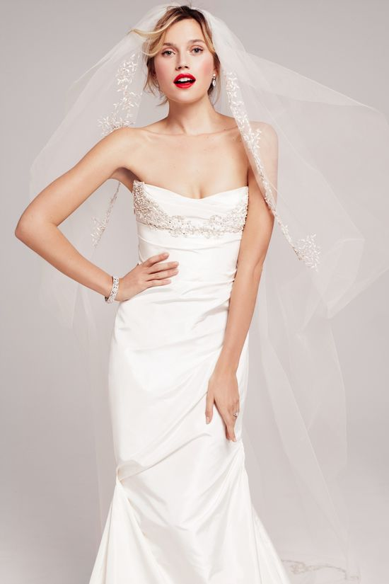 Crystal encrusted bodice of Roses by Reem Acra 'Zinnia' gown, exclusive to Nordstrom.