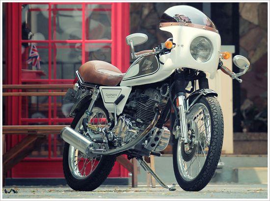 2003 Honda GL Max - 'Café Latte'Clubman - Pipeburn - Purveyors of Classic Motorcycles, Cafe Racers & Custom motorbikes