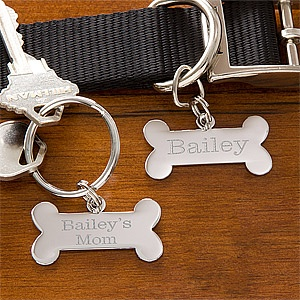 Cute gift idea - Personalized key ring and pet charm set