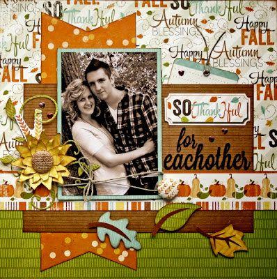 Thanksgiving scrapbooking layout