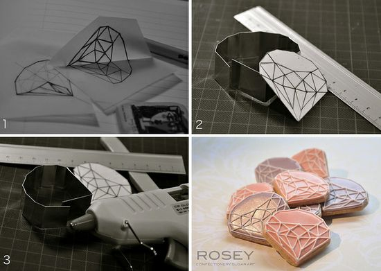 How I made my original cookie cutter... by rosey sugar, via Flickr