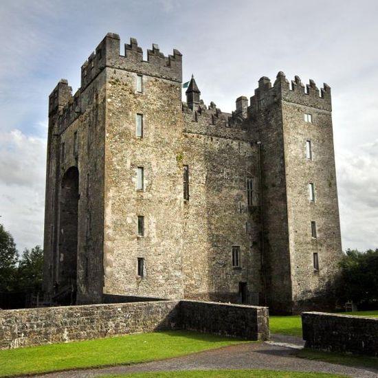 Medieval Bunraty Castle Ireland.**.