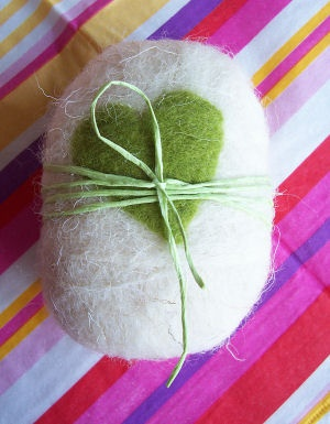 Felted soap.