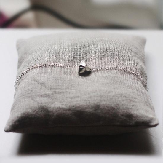 silver origami necklace / elephantine
