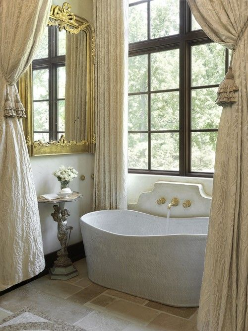 georgianadesign: Amy Studebaker Design, St. Louis, MO. #Interiors #Bathtub #Bathroom #Interior Design #Decor