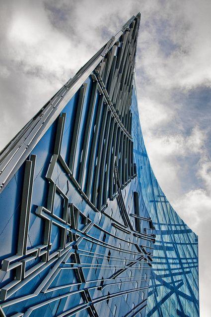 Hotel Cab Inn Metro in Orestad district of Copenhagen, Denmark by Daniel Libeskind #architecture - ?k?