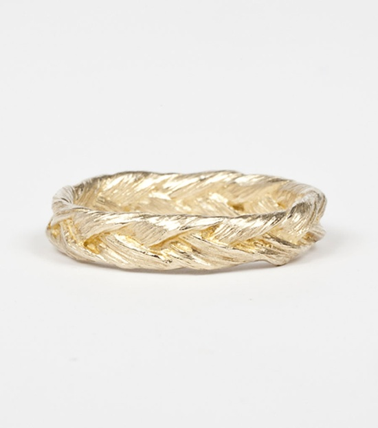 Katrina Lapenne.  Braid Ring, 14k Gold