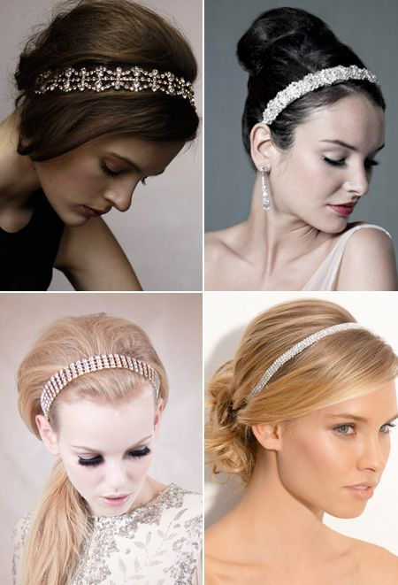 Sparkling headbands #weddings