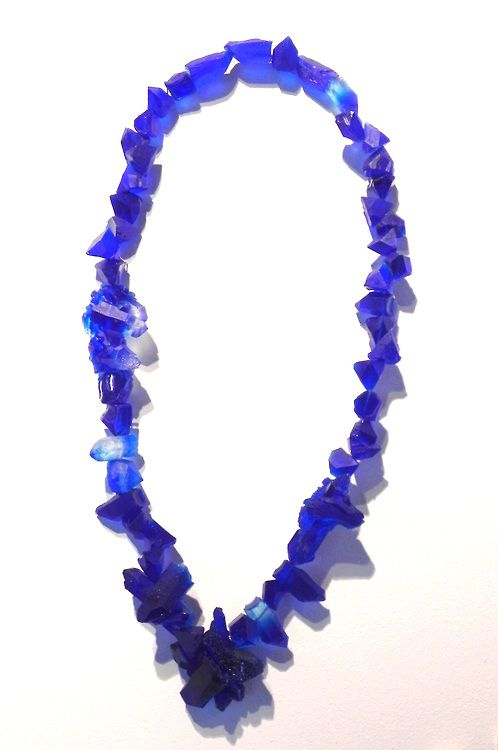 Multidues of Blue, Necklace  Resin, Steel - April 2013  - Francesca Flynn