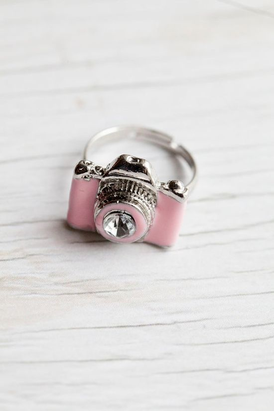 Pink Camera Ring- @Cherrie Chester-Kreiger?