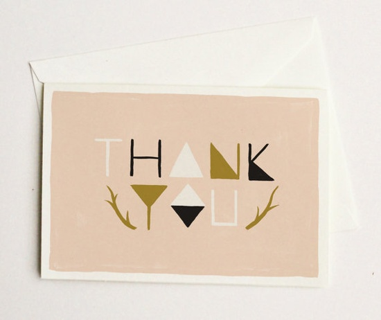 geometric thank you card / @quillandfox