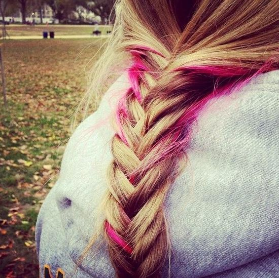 braid with pink