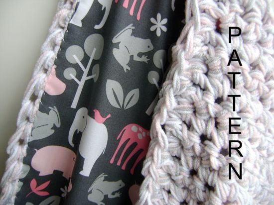 Crochet Reversible Baby Blanket Pattern - Easy Advanced Beginner Pattern