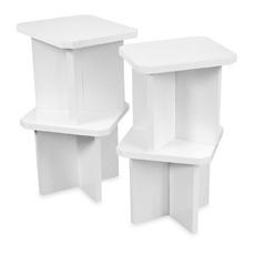 Way Basics Charlotte Stools (Set of 4) - White $65