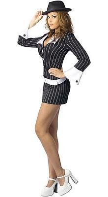 Sexy Gangster Women's Costume Adult Halloween « Clothing Impulse