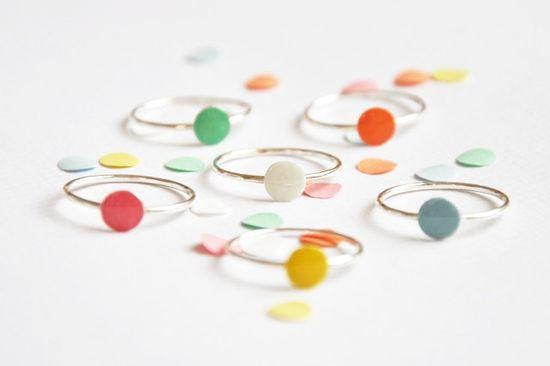 Confetti rings