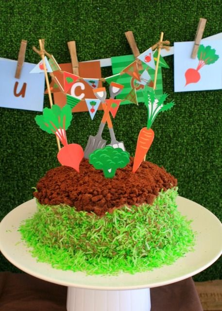 Awesome cake at a Garden Party.  See more party ideas at CatchMyParty.com.  #gardenpartyideas