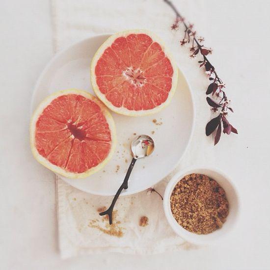 Grapefruit and brown sugar