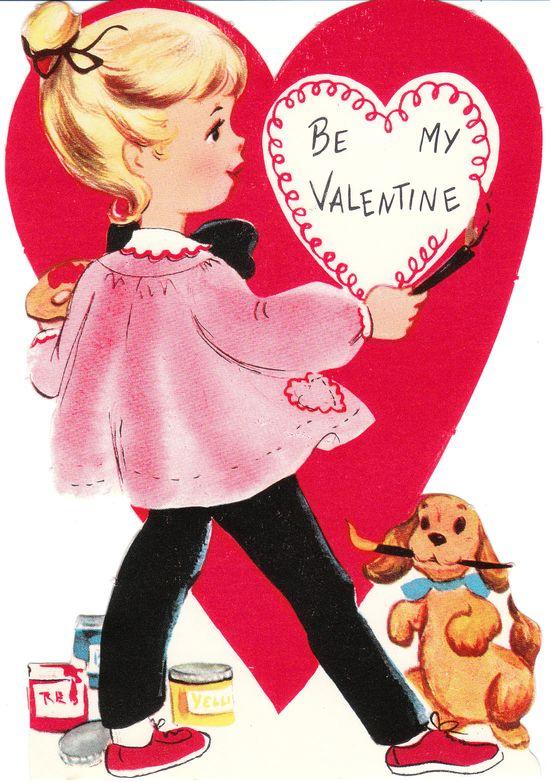 Painting Valentine , #vintage valentine
