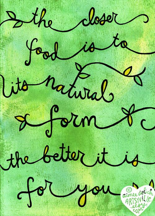 Freshened up my Natural doodle for spring! one simple rule for healthy eating :) Illustration © Aimee Myers Dolich. /top artsyville.etsy.com.