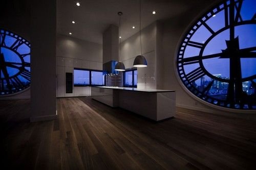 Amazing converted clock tower kitchen! #design