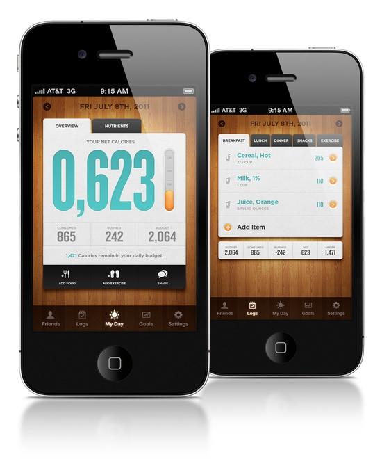 Wooden Iphone App Design