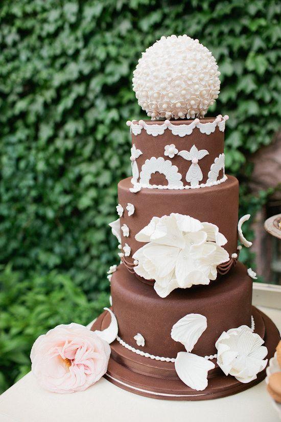 Wedding-Shmedding!!  It's my Birthday Cake!!    glamorous chocolate by   www.patisserie46....  Photography by canarygrey.com