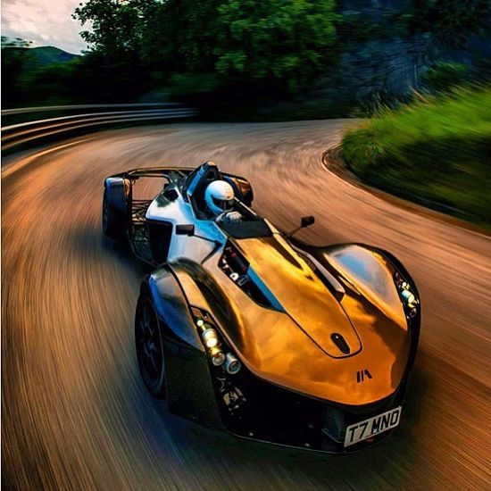 Epic Bac Mono whizzing around the bends!