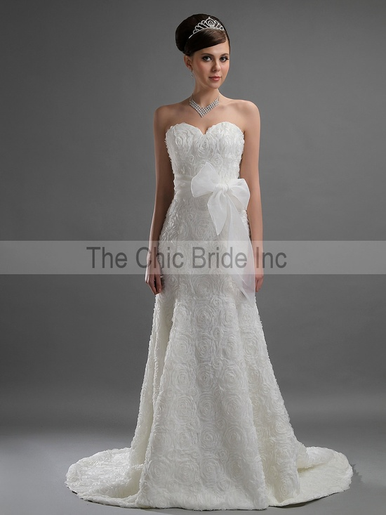 All Lace Custom Wedding Dress White or Ivory FREE by CiCiBridal, $699.00