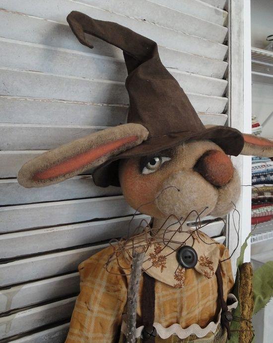 EPATTERN Primitive Folk Art Bunny Rabbit by thevintagepolkadot, $15.00
